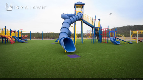 playground with artificial lawn